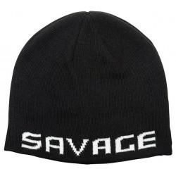 Czapka Savage Gear Logo Beanie - Black / White 73739
