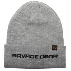 Czapka Savage Gear Fold-Up Beanie - Light Grey Melange 73741
