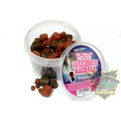 Pellet Bait-Tech Pre Drilled Mixed Halibut and Krill - Mix 8