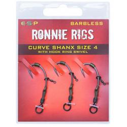 Haczyki ESP Ronnie Rig BARBLESS - roz. 4