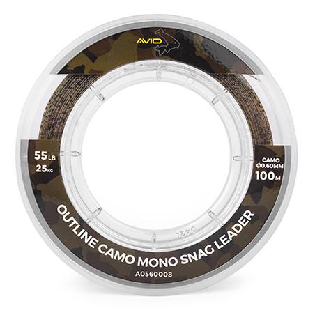 Strzałówka Avid Outline Camo Mono Snag Leader 100m - 0.60mm / 55lb