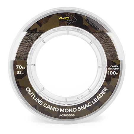 Strzałówka Avid Outline Camo Mono Snag Leader 100m - 0.70mm / 70lb