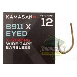 Haczyki Kamasan B911 X-Strong Barbless Eyed