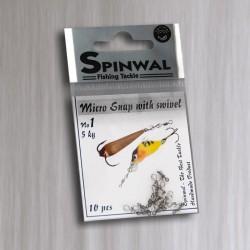 Zapinki z krętlikami Spinwal - Micro Snap no 1